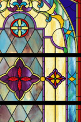 Stained glass complexity sample - religious windows