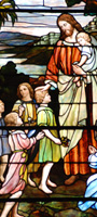 Lynchburg Staiend Glass - Religious Stained Glass Church Windows - Christ with Children
