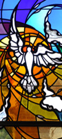 Religious Stained Glass - Modern Holy Spirit Design