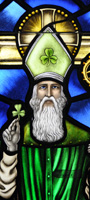 Hand Painted Religious Stained Glass - St Patrick